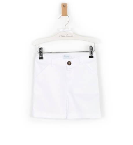 Pantalón niño blanco de Foque | Aiana Larocca