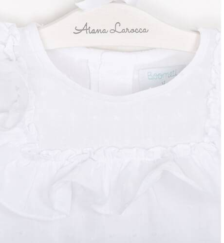 Blusa niña plumeti blanca de Boometi | Aiana Larocca