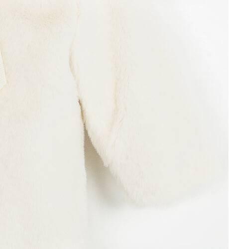 Abrigo niña pelo crudo con capota Valentina Bebés | Aiana Larocca