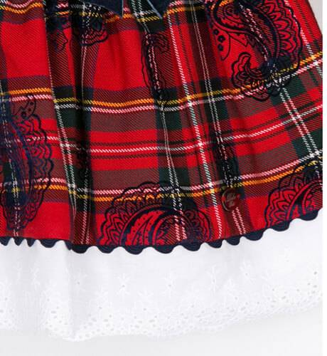 Vestido escocés rojo lazos marino de Dolce Petit | Aiana Larocca