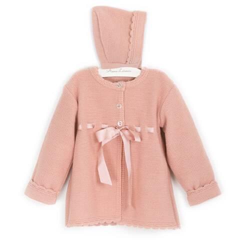 Abrigo bebe niña punto rosa de Valentina Bebés | Aiana Larocca