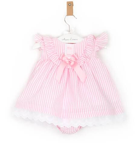 -NUEVO- Jesusito bebé niña a rayas rosa de Valentina Bebés | Aiana Larocca