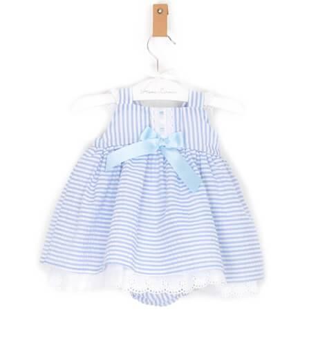 -NUEVO- Jesusito bebé niña a rayas azul de Valentina Bebés | Aiana Larocca