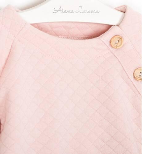 Conjunto sudadera rosa con braguita de Valentina Bebés | Aiana Larocca