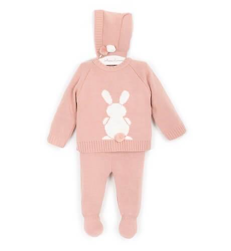 Conjunto pelele conejo rosa de Valentina Bebés | Aiana Larocca