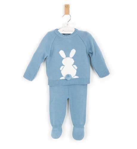 Conjunto pelele conejo azul de Valentina Bebés | Aiana Larocca