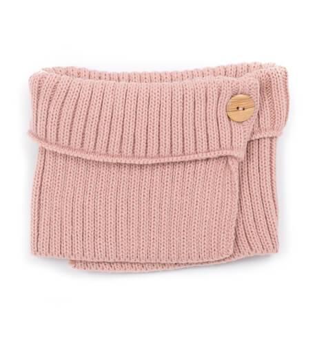 Bufanda rosa punto canelada de Valentina Bebés | Aiana Larocca