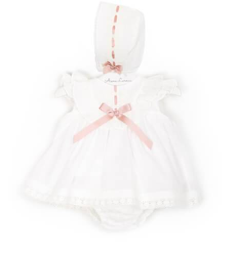 -NUEVO- Jesusito bebé plumeti crudo lazo rosa Valentina Bebés | Aiana Larocca