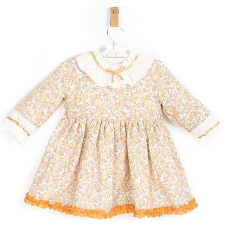Vestido niña estampado detalle mostaza de Clemencita | Aiana Larocca