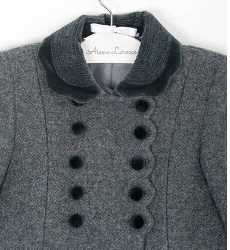 Abrigo inglés gris Rigans | Aiana Larocca