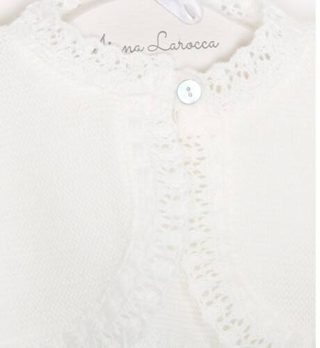 Bolero bebe crudo con capota de Valentina Bebes | Aiana Larocca