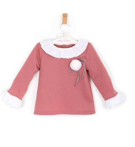 Sudadera rosa de Baby Yiro | Aiana Larocca
