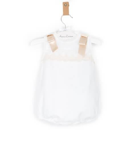 Ranita plumeti con bordado y capota de Valentina Bebés | Aiana Larocca