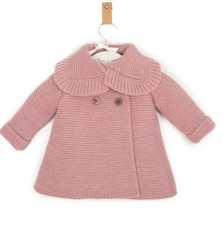 Abrigo bebé rosa empolvado de Punto Solita | Aiana Larocca
