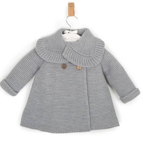 Abrigo bebé gris de Punto Solita | Aiana Larocca