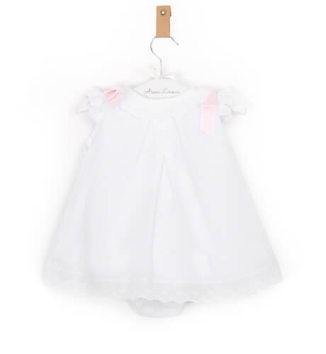 -NUEVO- Jesusito plumeti lazos rosa de Valentina Bebés | Aiana Larocca