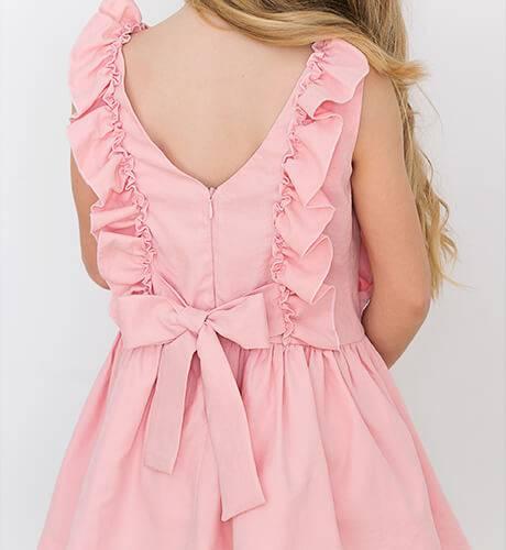 Vestido rosa con volantes de Nekenia | Aiana Larocca