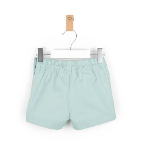 Pantalón niño corto verde empolvado de José Varón | Aiana Larocca