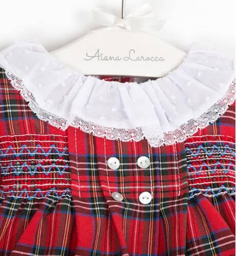 Jesusito bebe niña nido escocés de Valentina Bebés | Aiana Larocca