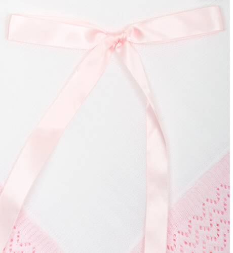 Mantita detalle rosa para bebé | Aiana Larocca