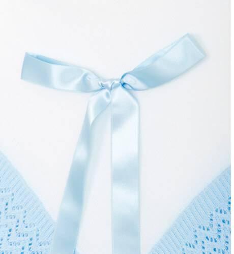 Mantita detalle celeste para bebé | Aiana Larocca