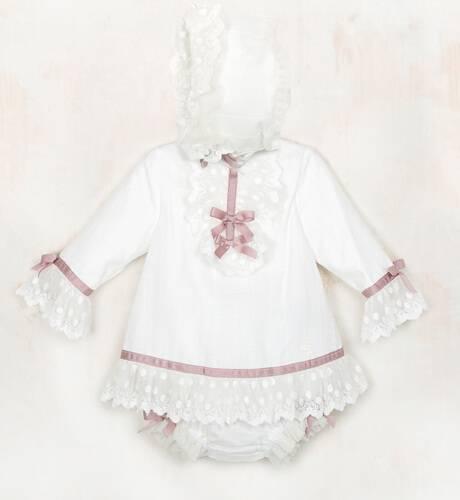 Jesusito bebe niña crudo con rosa empolvado de Dolce Petit | Aiana Larocca