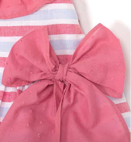 Vestido niña a rayas tirantes volantes cruzados de Yoedu   Aiana Larocca