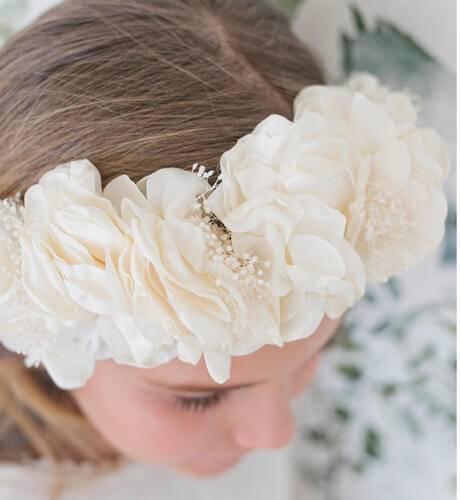 Corona flores grandes crudo Siena | Aiana Larocca