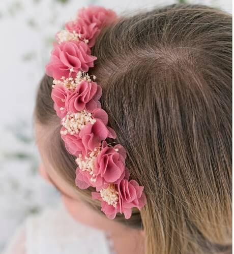 Diadema flores rosa | Aiana Larocca
