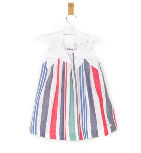 -NUEVO- Vestido niña nautico a rayas de José Varón | Aiana Larocca