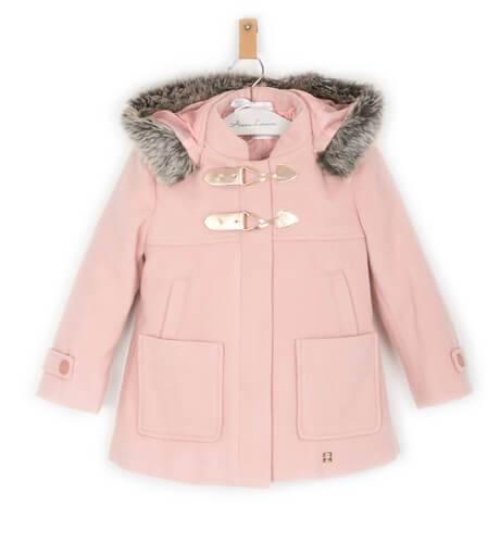 Trenca niña color rosa de Dolce petit | Aiana Larocca