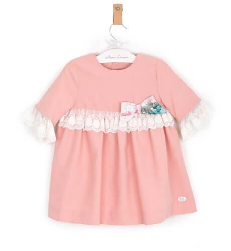 -NUEVO- Vestido niña rosa de José Varón | Aiana Larocca