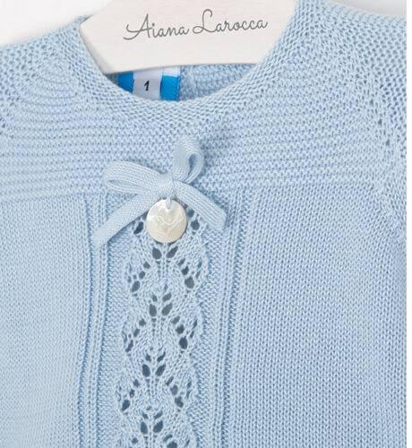 Conjunto bebé pelele azul de Punto Solita | Aiana Larocca