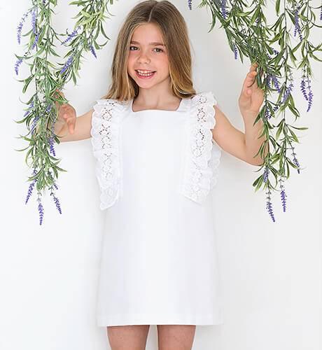 Vestido blanco tira bordada de Rochy | Aiana Larocca