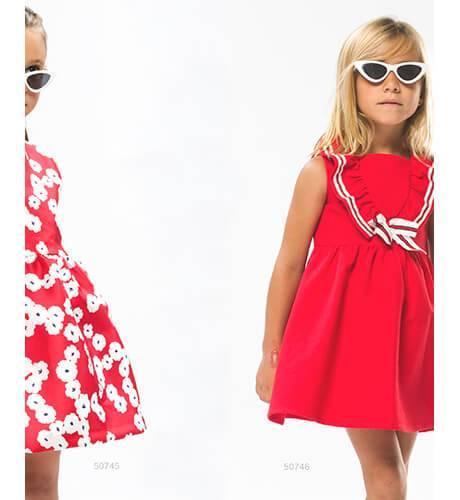 Vestido niña rojo marinero de Coco Acqua | Aiana Larocca