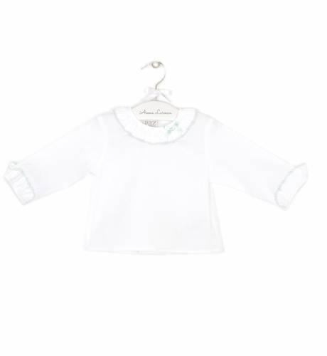 Camisa bebe lacito verde de Paz Rodríguez | Aiana Larocca