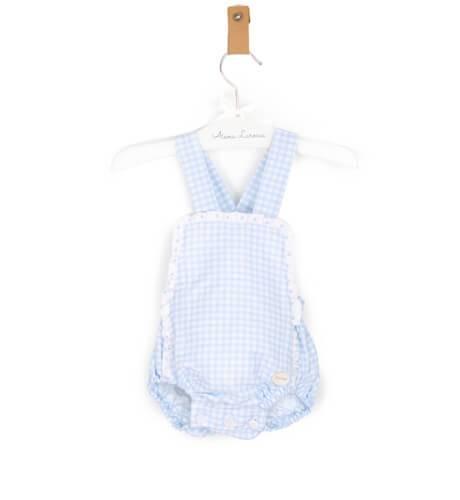 Ranita bebé vichy azul de Cocote | Aiana Larocca