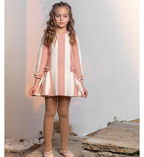 Vestido niña a rayas vertical anchas de Nekenia | Aiana Larocca