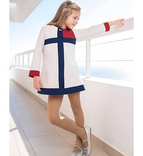 Vestido niña tres tonos evasé de Nekenia | Aiana Larocca