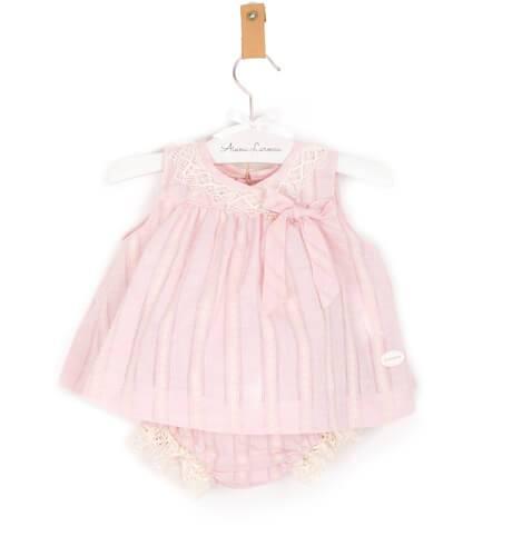 -NUEVO- Jesusito bebe niña rosa puntilla de Cocote | Aiana Larocca