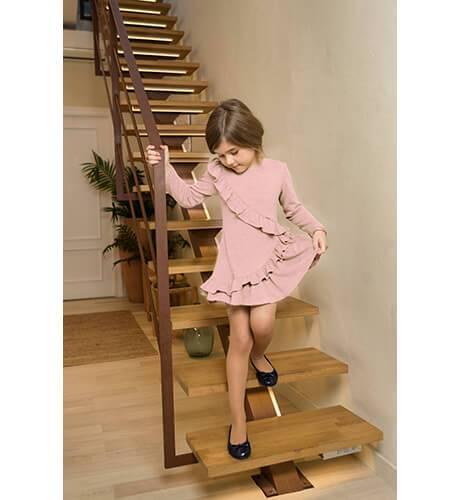 Vestido punto rosa estilo flamenca de Nekenia | Aiana Larocca