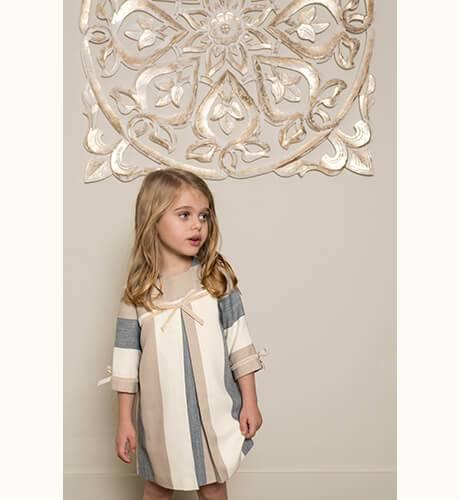Vestido niña a rayas vertical de Nekenia | Aiana Larocca