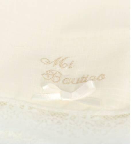 Pañuelo cristianar con lacito | Aiana Larocca