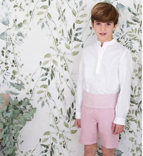 Pantalón niño ceremonia rosa | Aiana Larocca