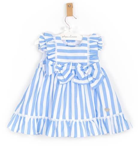 Vestido a rayas azules de Marta y Paula | Aiana Larocca