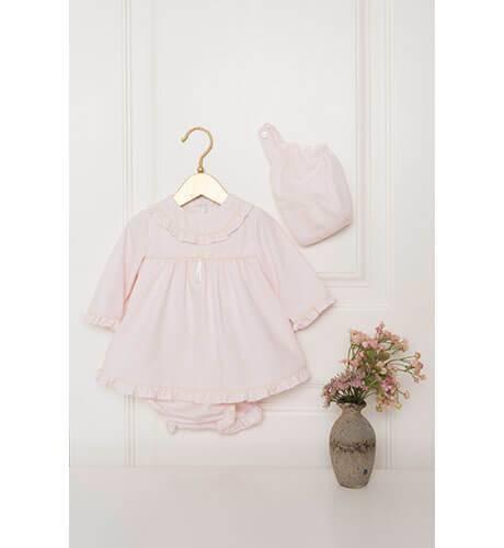 Jesusito bebe rosa con volantitos de Dolce Petit | Aiana Larocca