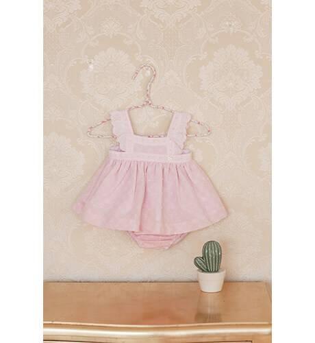 2bdc9d80a Jesusito bebe rosa tirantes con volantes de Dolce Petit