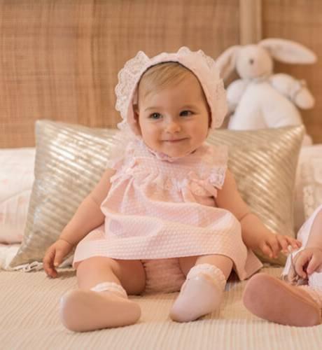 Jesusito bebe pique rosa pasacintas de Dolce Petit | Aiana Larocca