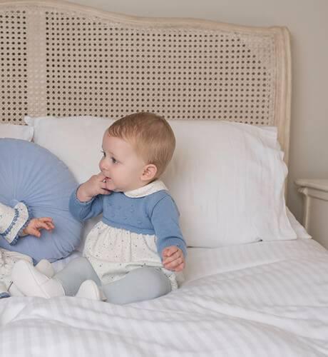 Ranita bebe estrellitas combinada punto de Dolce Petit | Aiana Larocca