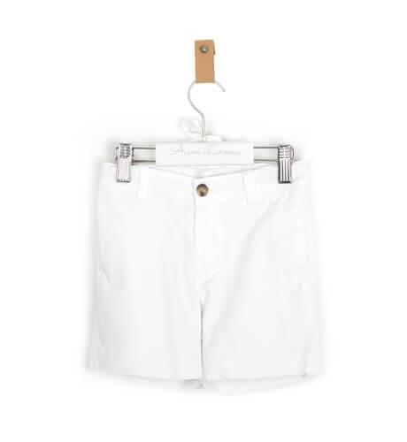 Pantalón corto niño blanco | Aiana Larocca
